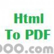 Html To PDF For Windows screenshot